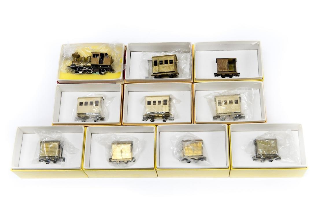 Group of (10) Ken Kidder Vintage Railroad Model Cars