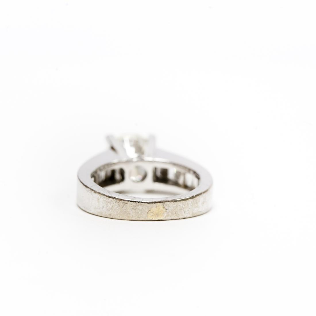 18K White Gold & Diamond Ring. 2.17 ct Center Diamond. - 5
