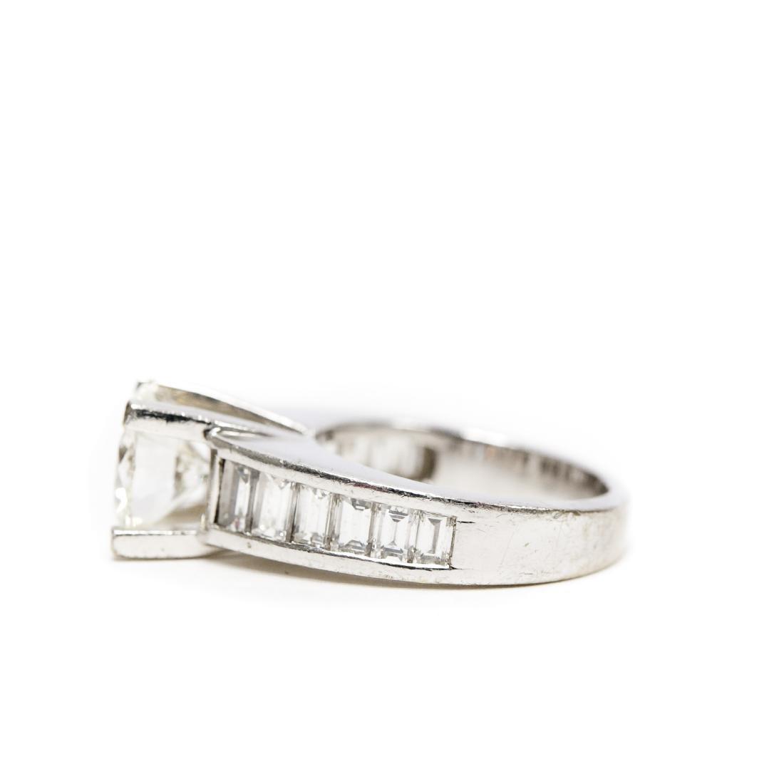 18K White Gold & Diamond Ring. 2.17 ct Center Diamond. - 6