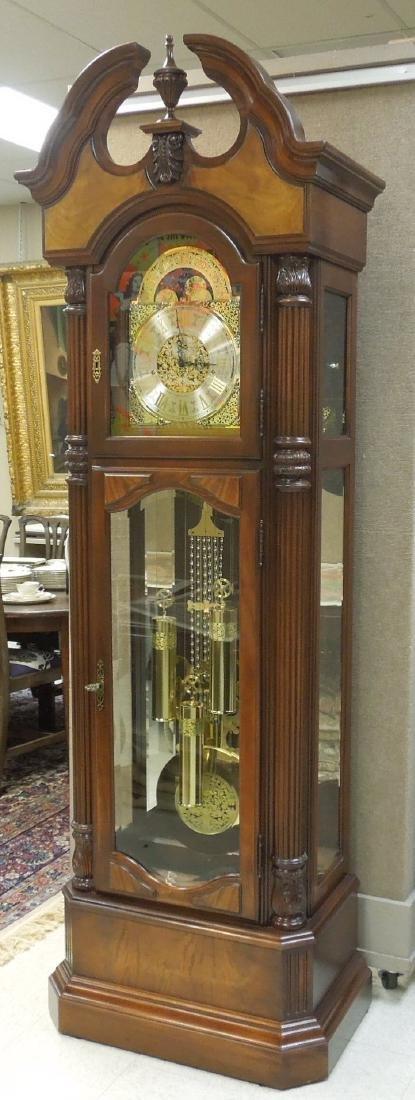 Ridgeway American Mahogany Grandfather Clock.