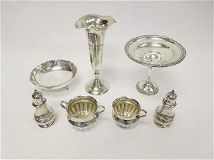 Group of (7) Sterling Silver Tableware Items.