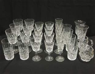 Group of Waterford Crystal Stemware and Glasses, 28
