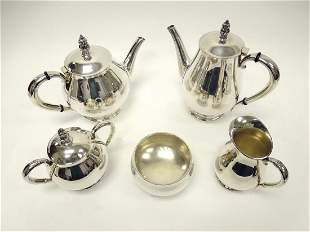 International Sterling Royal Danish Coffee & Tea Set.