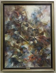R. C. Ward, Oil on Canvas, Clash by Night.