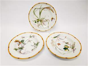 19th C. Minton, (2) Bowls and a Plate.