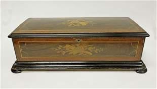 19th C. Swiss Cylinder Music Box.