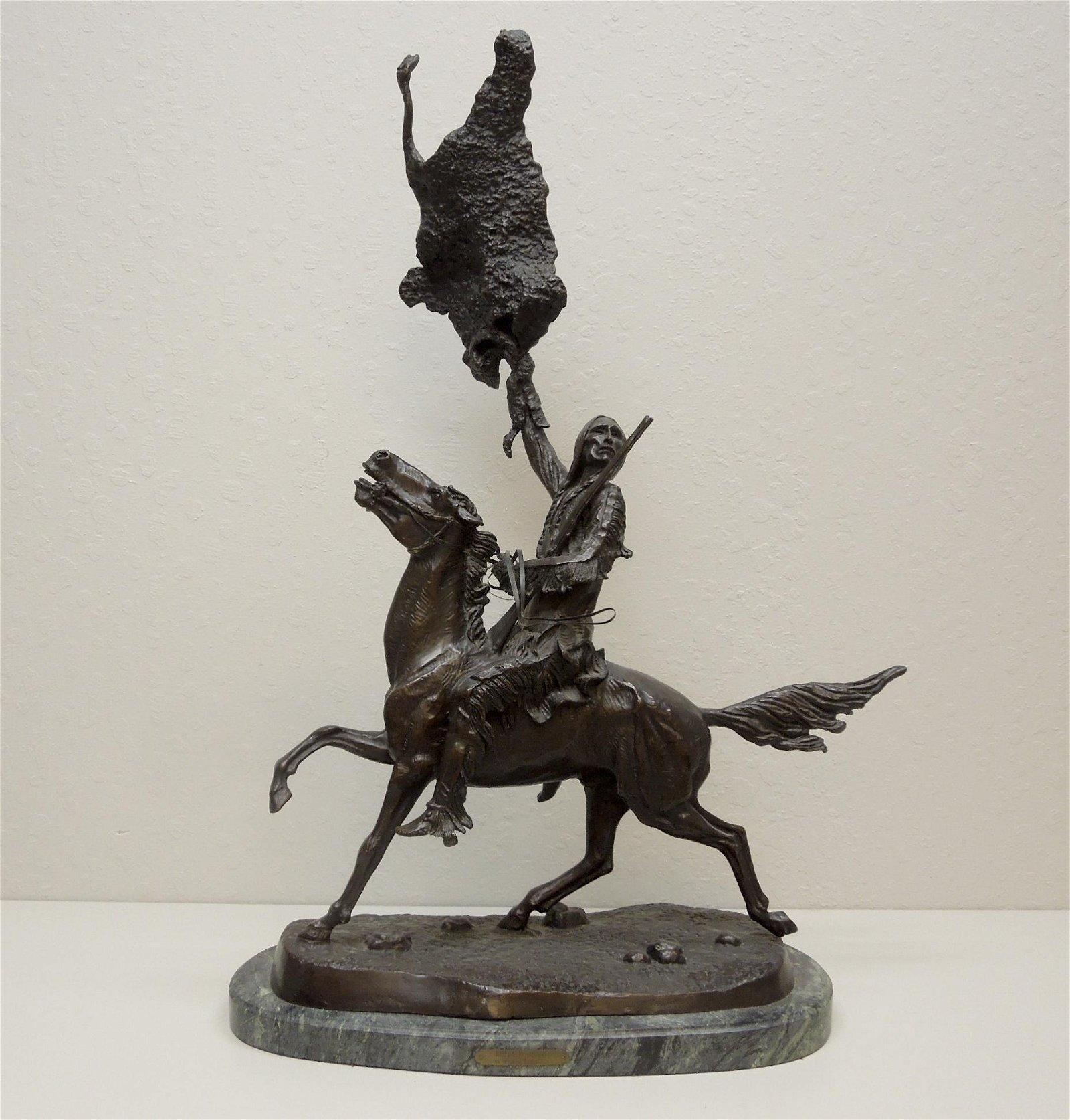 After Frederic Remington, Bronze Sculpture, Buffalo