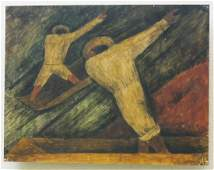 Rufino Tamayo Gouache on Paper Board.