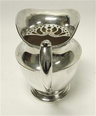 Heather Y Hijos Mexican Sterling Silver Water Pitcher.