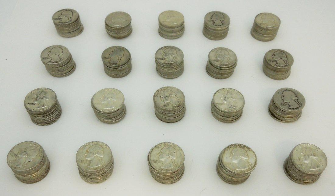 (200) U.S. Silver Quarters.