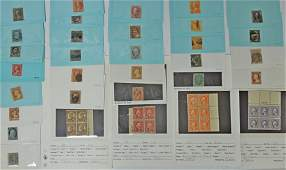 Collection of Early U.S. Postage Stamps.