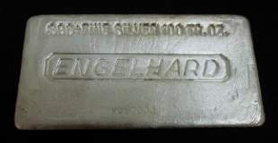 Engelhard .999 Silver 100 Troy Ounce Bar.