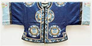 Chinese Embroidered Silk Short Jacket.