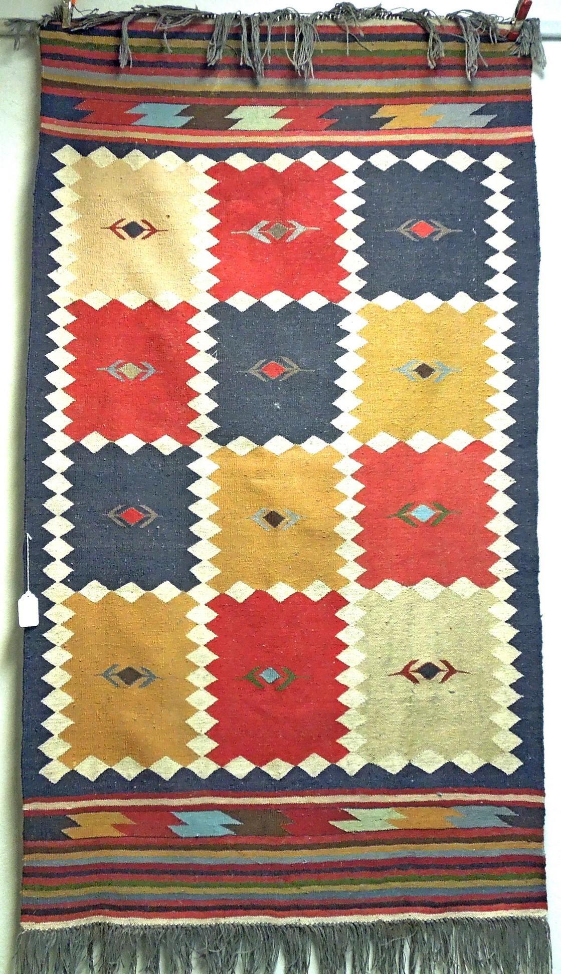 Southwestern Style Flat Weave Rug.
