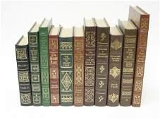 11 Easton Press Leather Bound Books