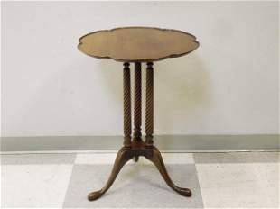 Queen Anne Style Walnut Occasional Table