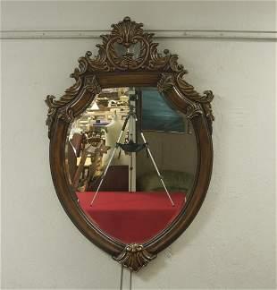 Contemporary Shield Form Mirror