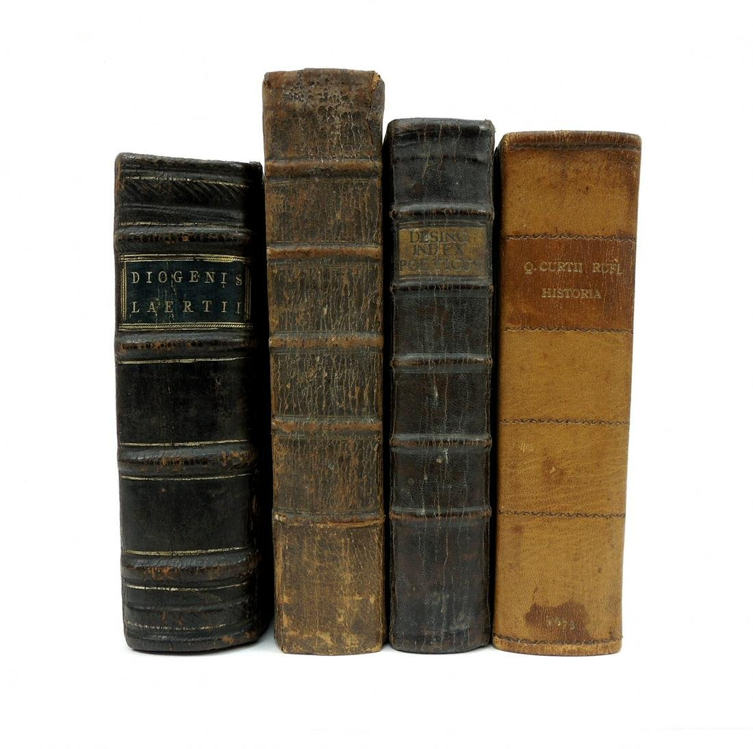 (4) Antiquarian Leather Bound Books.