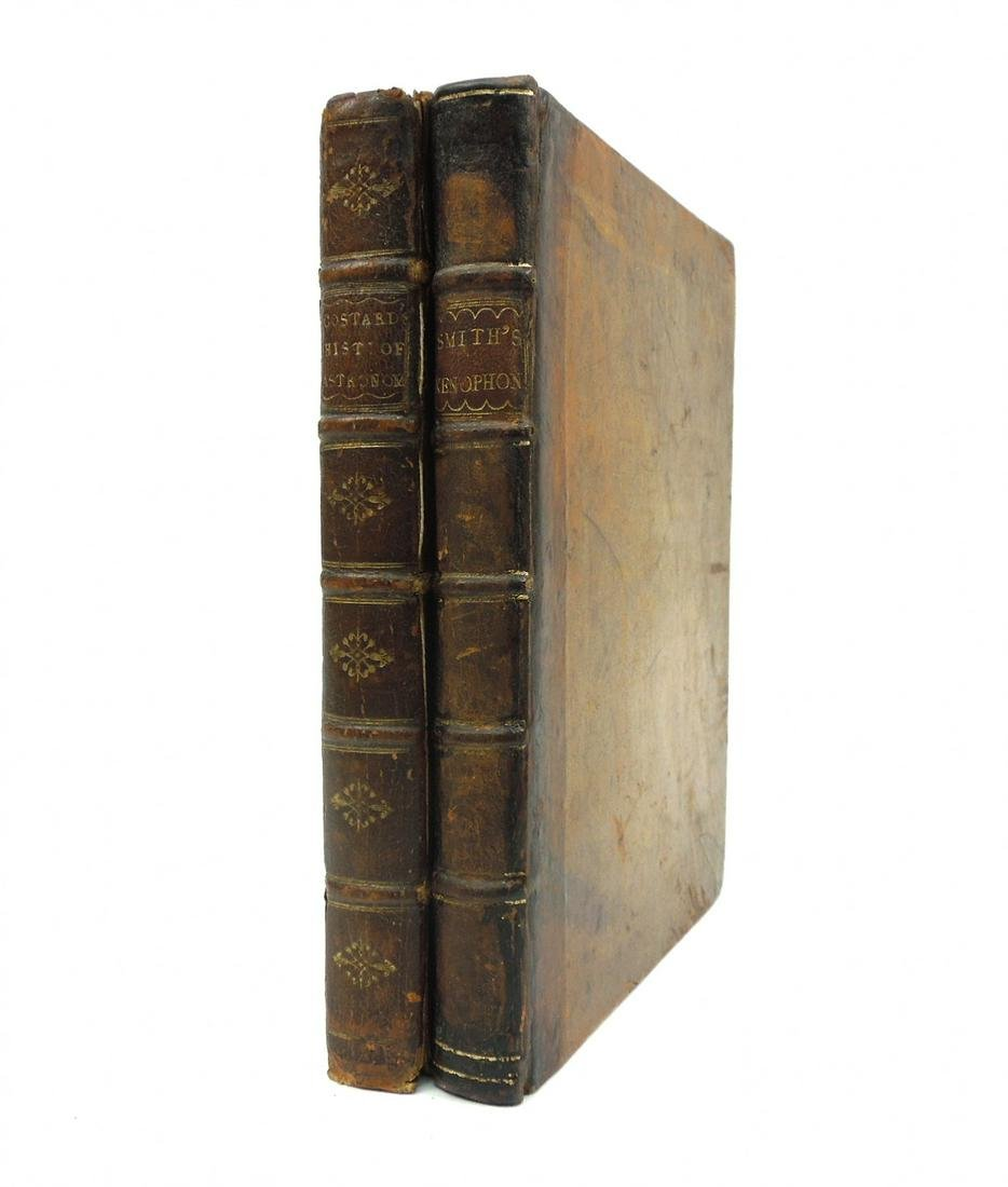 (2) Antiquarian Leather Bound Books.