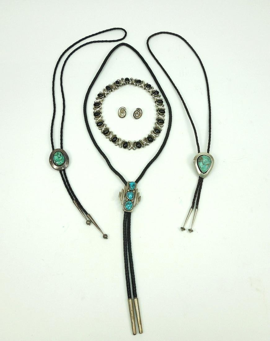 Group of Native American Silver Jewelry