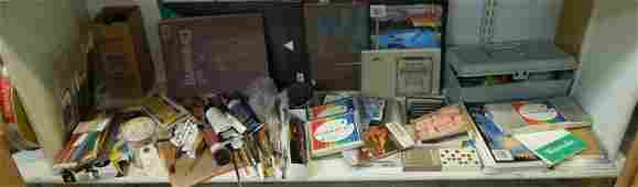 Group of Artists Supplies