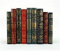 (9) Easton Press Signed First Edition Leather Bound