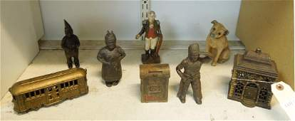 Group of Cast Iron Coin Banks.