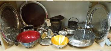 Group of Silver Plate Hollowware Items.