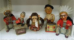 Five Collectible Wind Up Toys