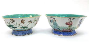 (2) 19th C. Chinese Famille Rose Porcelain Bowls.
