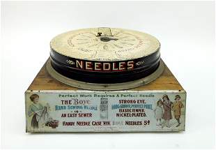 Vintage Boye Needle Co. Spinning Dispenser.
