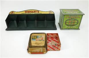 (3) Vintage Chewing Gum Store Displays.