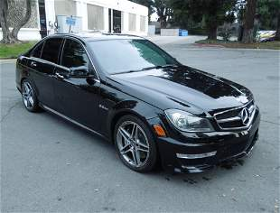 2012 Mercedes-Benz C63 AMG 4-Door Sedan.