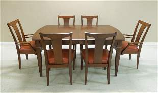 Ethan Allen Mahogany Dining Table with 6 Chairs.