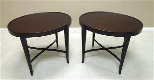 "Pair of Baker ""Barbara Barry"" Oval Side Tables."