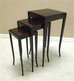 "Set of (3) Baker ""Barbara Barry"" Nesting Tables."