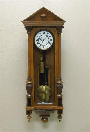 Early 20th C. Continental Wall Clock.