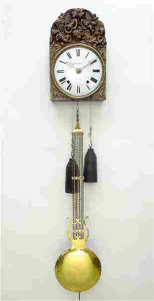 19th C. French Comtoise Wall Clock.