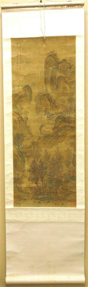 Attributed to Wang Hui, Chinese Scroll Painting.