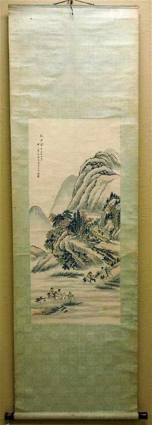 Chinese Landscape Painting, Gao Yan, Qing Dynasty.