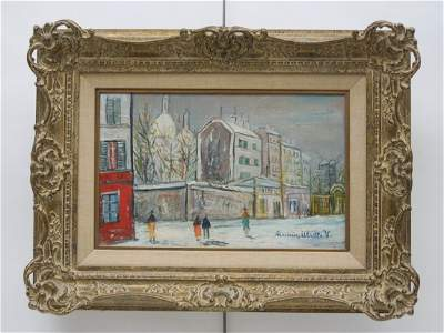 Oil on Canvas, Signed Maurice Utrillo