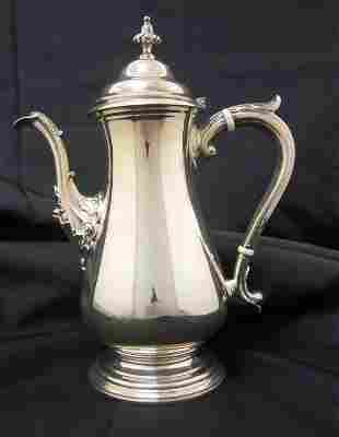 Shreve & Co. Sterling Silver Coffee Pot.