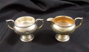 Newport Sterling Silver Sugar Bowl and Creamer.