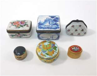 Group of (6) Vintage Pill Boxes.