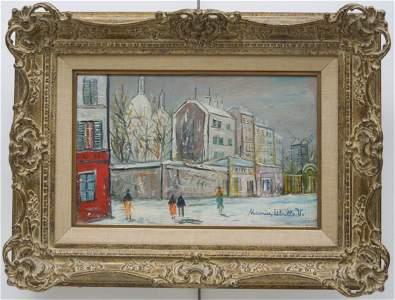 Oil on Canvas, Signed Maurice Utrillo.