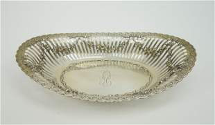 Sterling Silver Reticulated Bread Dish.