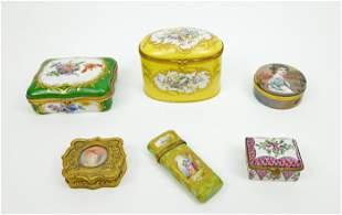 (6) Vintage Continental Dresser Boxes.