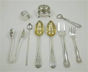 Group of (9) Sterling Silver Items.