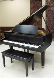 1988 Yamaha GH1 Baby Grand Piano with Stool.