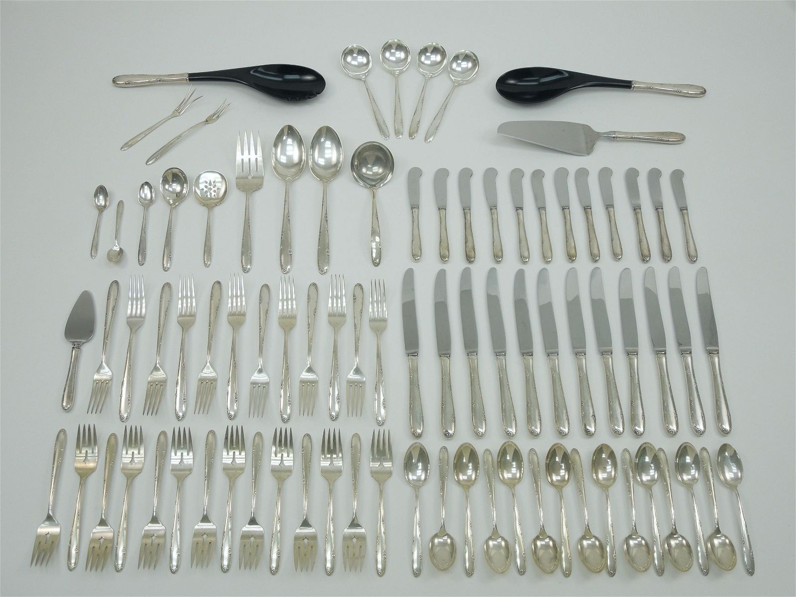 """Towle """"Madeira"""" Sterling Silver Flatware, 71 Pieces."""